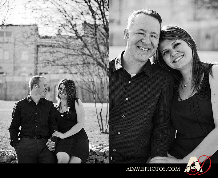 Romantic Engagement Portraits by Dallas Wedding Photographer Allison Davis Photography at Adriatica in McKinney Texas