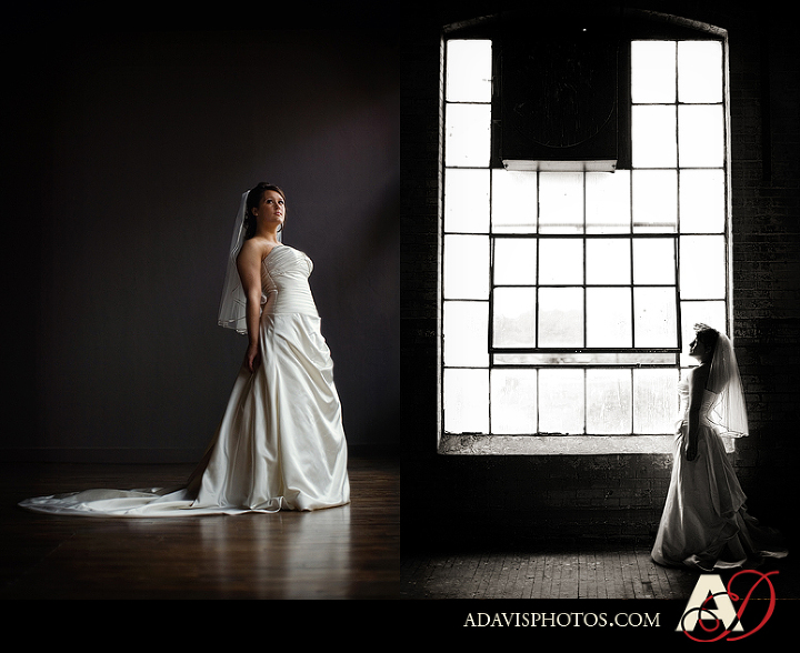 Dallas Wedding Bridal Portraits at the McKinney Cotton Mill by Plano Wedding Photographer Allison Davis Photography