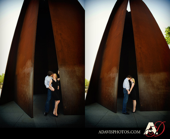 Engagement Portraits of Susan and Mark at the Modern Museum of Art of Art by Plano Wedding Photographer Allison Davis Photography