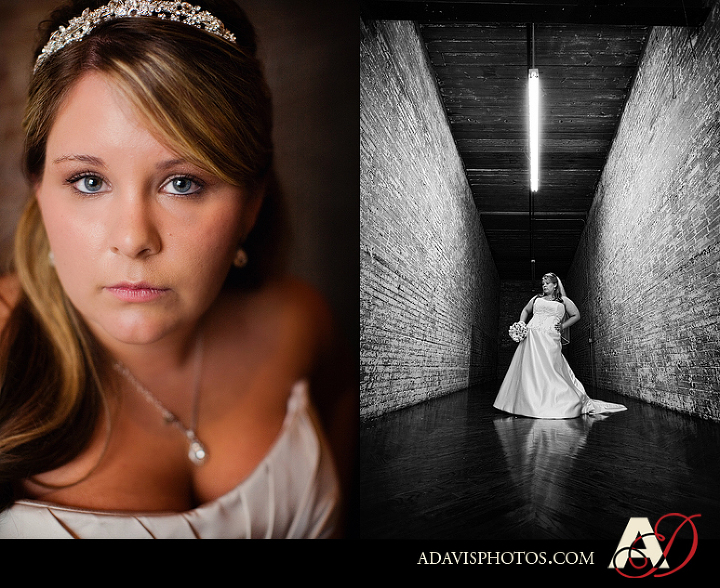 Modern and Romantic Bridal Portraits by Dallas Texas Wedding Photographer Allison Davis Photography at the McKinney Cotton Mill