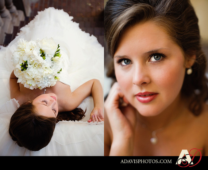 Modern and romantic bridal portraits at the Las Colinas Canals by Plano wedding photographer Allison Davis Photography