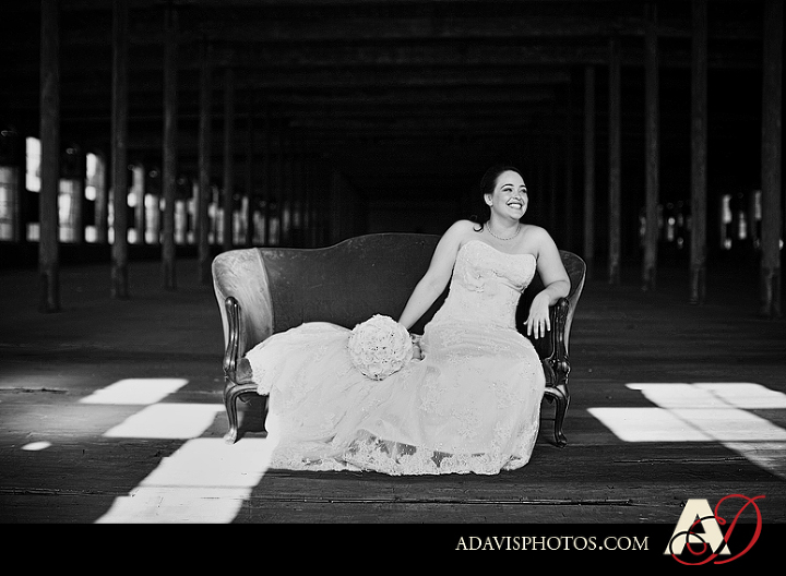 Romantic and Modern Bridal Portraits at the McKinney Cotton Mill by Plano Texas Wedding Photographer Allison Davis Photography
