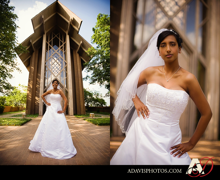 Dallas Bridal Portraits at Marty Leonard Chapel in Fort Worth by Dallas Wedding Photographer Allison Davis Photography
