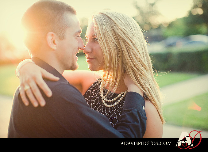 Romantic and modern engagement portraits in Addison Circle by Dallas Texas Wedding Photographer Allison Davis Photography