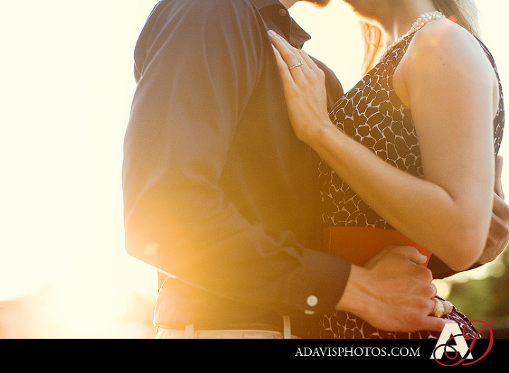 Romantic and modern engagement portraits in Addison Circle by Plano TX Wedding Photographer Allison Davis Photography