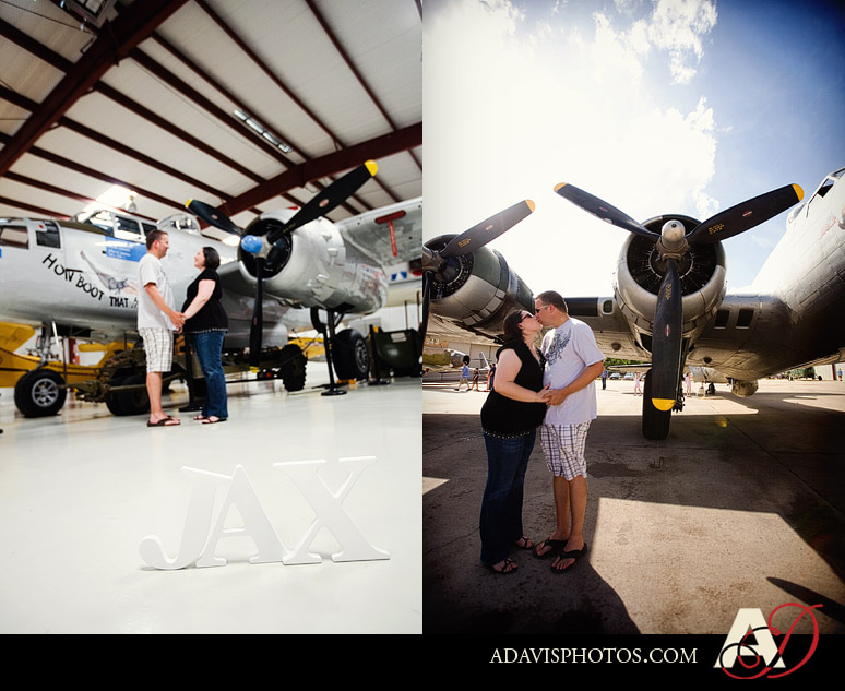 Raquel & Patrick: Maternity Portraits at the Cavanaugh Flight Museum