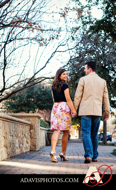 KaliKyle Dallas Engagement Portraits by Allison Davis Photography 05 Kali & Kyle: Engagement Portraits at the Shops at Legacy & The Arbor Hills Nature Preserve