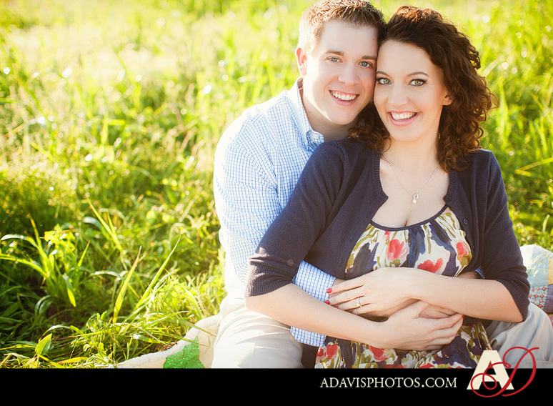 SarahJosh Romantic Picnic Engagement Portraits by Dallas Wedding Photographer Allison Davis Photography 0101 Sarah + Josh: Romantic and Fun Engagement Portrait Picnic & More