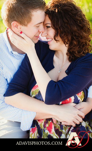 SarahJosh Romantic Picnic Engagement Portraits by Dallas Wedding Photographer Allison Davis Photography 0121 Sarah + Josh: Romantic and Fun Engagement Portrait Picnic & More