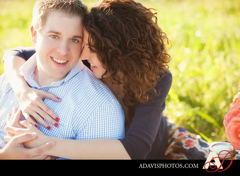 SarahJosh Romantic Picnic Engagement Portraits by Dallas Wedding Photographer Allison Davis Photography 0201 Sarah + Josh: Romantic and Fun Engagement Portrait Picnic & More