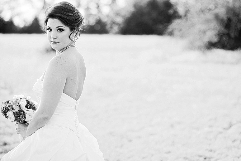 romantic bridal portraits in McKinney Texas in a wild field by Allison Davis Photography