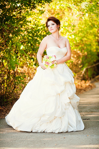 romantic bridal portraits by Allison Davis Photography
