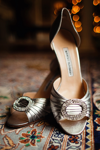 Manolo Blanik wedding shoes