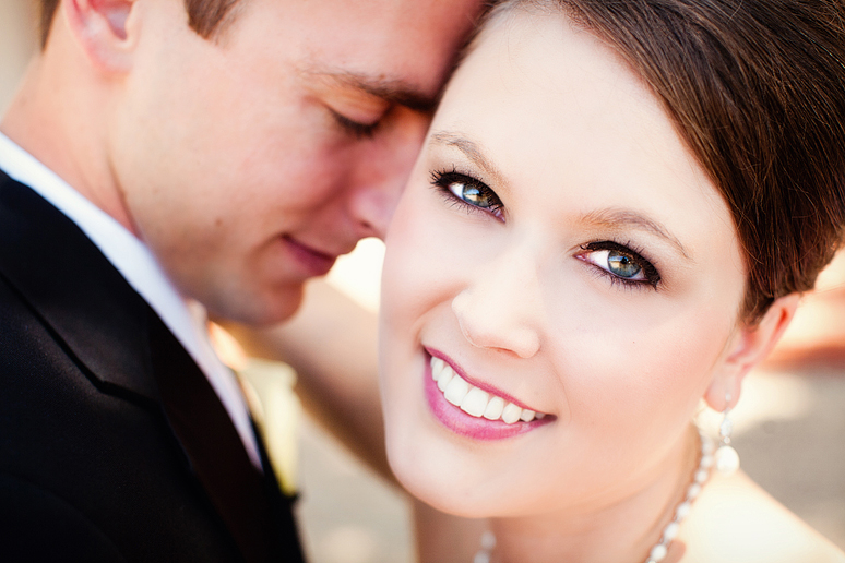 close up of the bride and grooam on their wedding day by allison davis photography