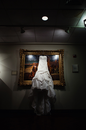 wedding dress at University Christian Church