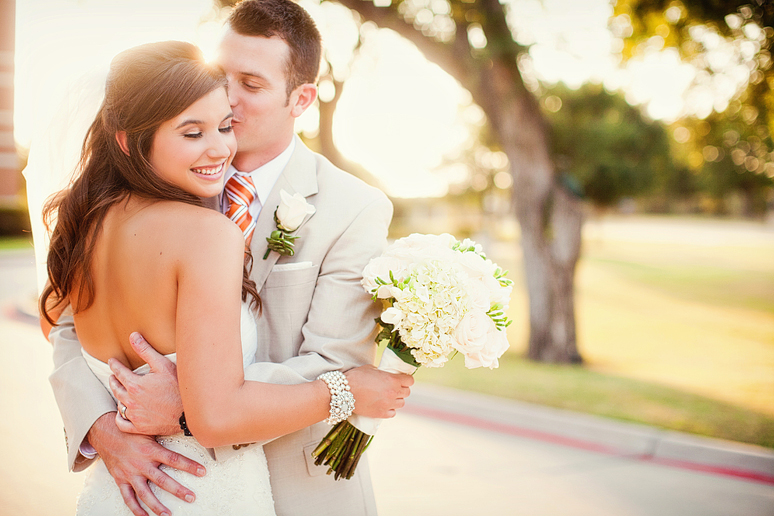 natural and sweet portraits of a bride and groom in Dallas by Allison Davis Photography at The Heights Baptist Church