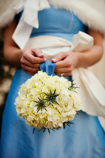 bridesmaids bouquet at wedding at University Christian Church