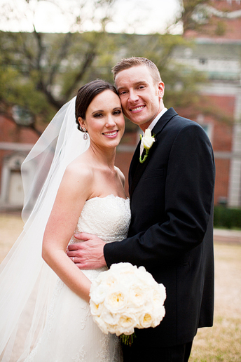 romantic and beautiful bride and groom portraits by Allison Davis Photography at Park Cities Baptist Church