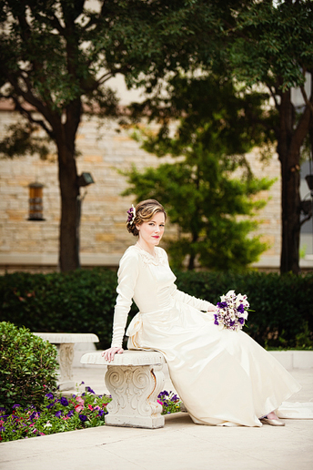bridal portrait at the Stonebriar Westin Resort hotel by Dallas wedding photographer Allison Davis Photography