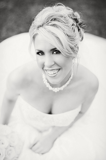 black and white beautiful bridal portrait at SMU