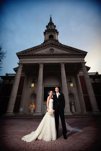 wedding photographs at Park Cities Baptist Church by Allison Davis Photography