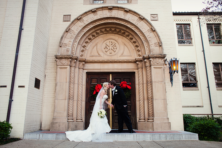 bride & groom at University Christian Church