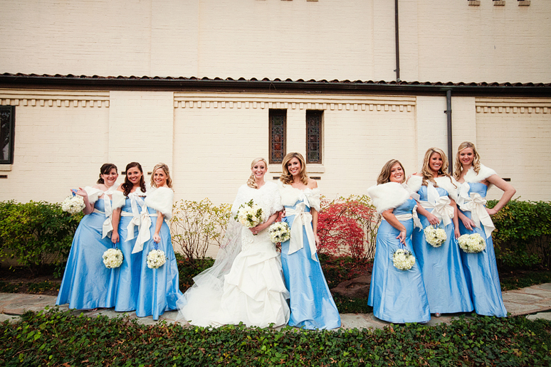 bridesmaids at University Christian Church wedding