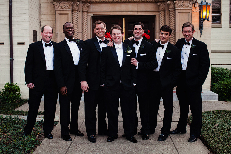 groomsmen at University Christian Church wedding