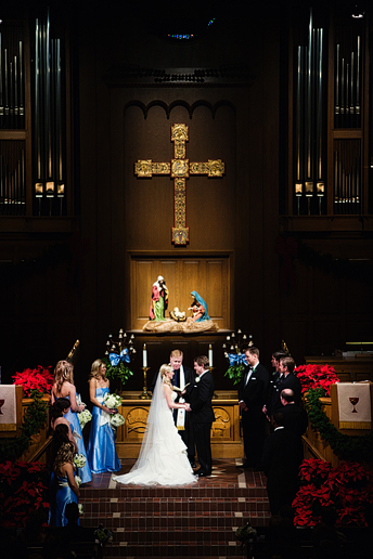 wedding ceremony at University Christian Church in Fort Worth