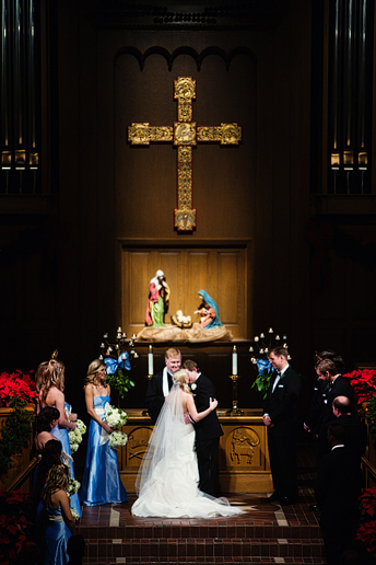 wedding at University Christian Church in Fort Worth