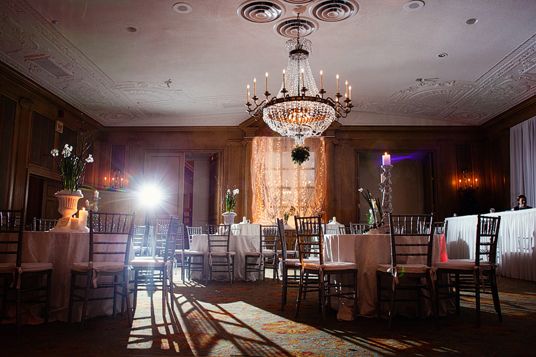 fort worth club ballroom wedding reception decor