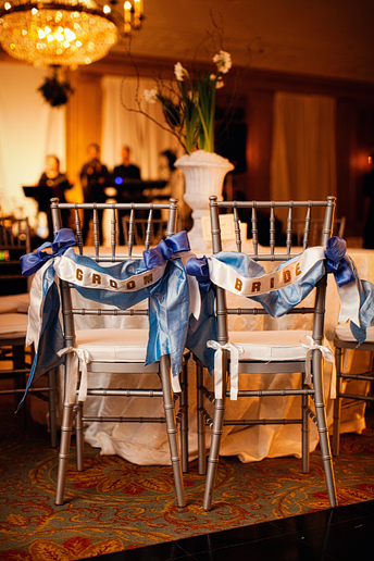 bride and groom chair decor idea
