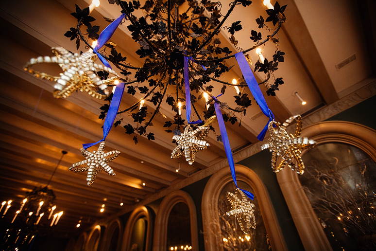 winter wedding decor at the fort worth club