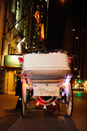 wedding Carriage exit in downtown fort worth texas