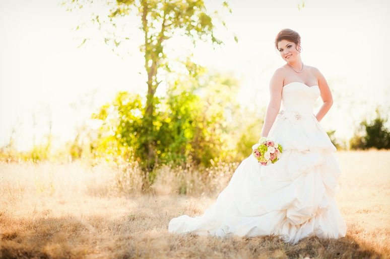 jessica bridal portraits in a wild field dallas wedding photography