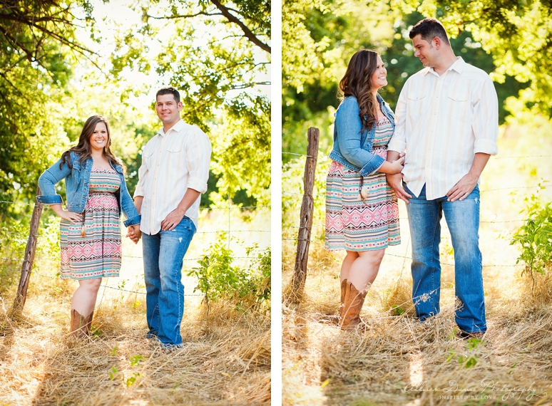 Kendall Mike Country Engagement Portraits byAllisonDavisPhotography  007 <span>Kendall & Mike:</span><br/>Country Rustic Engagement Portraits in Prosper<br/>{Dallas Wedding Photographer}