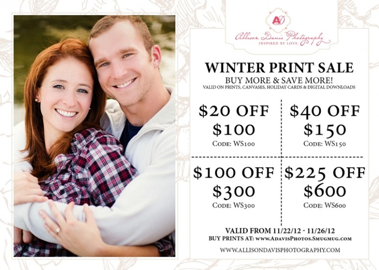 <span>Print Sale:</span><br/>Winter Print Sale &#8211; Buy More &#038; Save