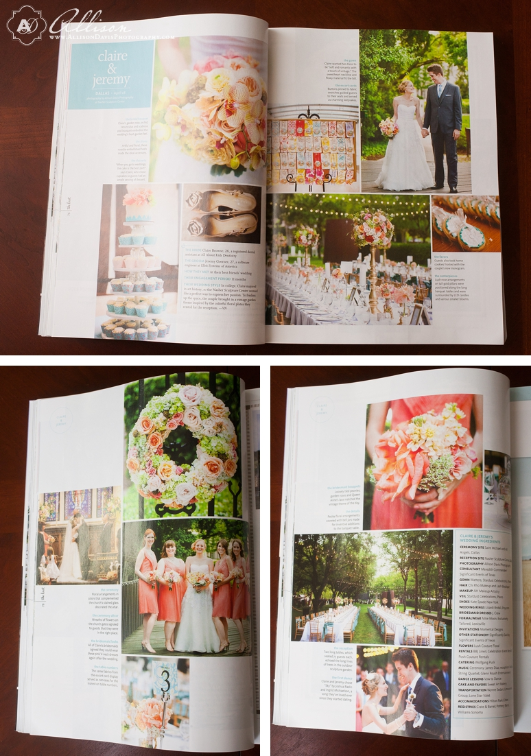 <span>Published!:</span><br/>Featured in The Spring/Summer 2013 Issue of The Knot<br/>{Dallas Wedding Photographer}