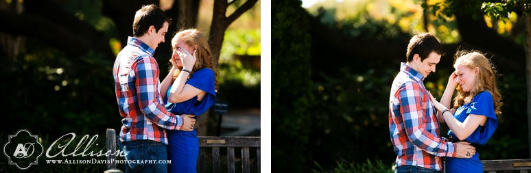 Corey Sarah Proposal Photography at the Dallas Arboretum by allison Davis Photography 06 <span>Corey & Sarah:</span><br/>Dallas Proposal Photography